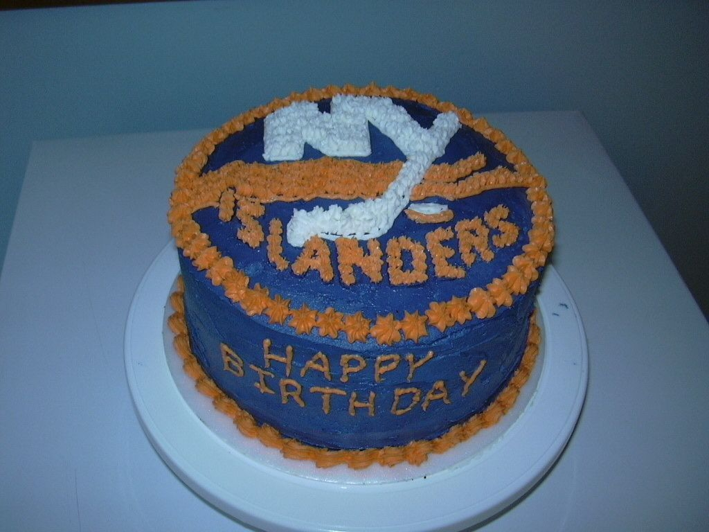 New York Islanders Hockey  This was a challenge for me. I printed off the Islanders logo and then enlarged it to the size I needed, then used it to make templets. It...