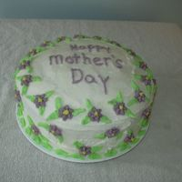 Happy Mother's Day   Drop flowers and leaves make a pretty Mother's Day cake.