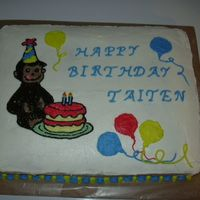 Curious George   A friend wanted a Curious George cake for her grandson, I gave it a try,