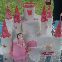 Princess Castle Cake is chocolate cake with pineapple filling