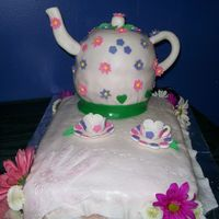 Birthday Tea Pot,cups And Saucers