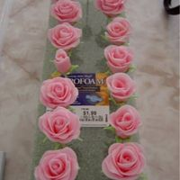 Fondant Roses Here's more of my first fondant roses that I taught myself to do from tips on CC and following Wilton's Course 3 book! These were...