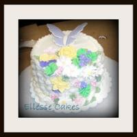 Basket Weave And Butterfly Color flow butterfly, basket weave Wilton Level 2 cake
