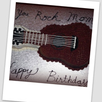 Mom's Cake Made for my mom because she put my sister and I in guitar lessons when we were kids (and we hated the lessons).