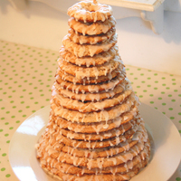Kransekake This was my first attempt at a traditional Norweigan Kransekake. It turned out well despite a few broken rings.