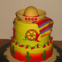 Graduation Fiesta Buttercream with fondant accents.