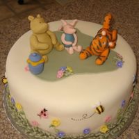 Classic Pooh Baby Shower All figures are made of fondant.