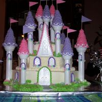 Princess Castle Cake I Was asked to make a castle for a girl's 4th birthday. This is what I came up with!!