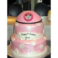 Minnie Mouse Cake I made this cake for my daughter's second birthday.