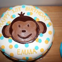 Mod Monkey Birthday Cake Done for my friend's daughters 1st birthday. Fun cake to make.