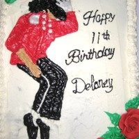 Michael Jackson   Chocolate cake with buttercream frosting.
