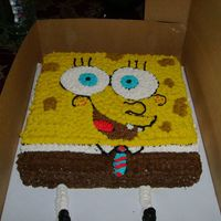Sponge Bob Cake This is a 12 inch square cake of Sponge bob! all buttercream icing.