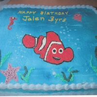 Jalen's Nemo Birthday   Frozen buttercream transfer