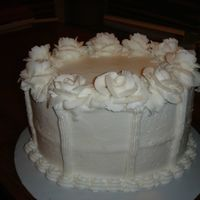 White Buttercream, Lemon Cake And Filling Just a practice cake........all buttercream, all white