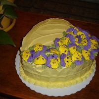 Pansy Garden Practice cake for me. Took it to work. They loved it!!!! Was gone by lunch time!!