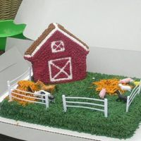 Farm Cake 2nd theme cake. Very easy and had fun. Especially since we are a rodeo family.