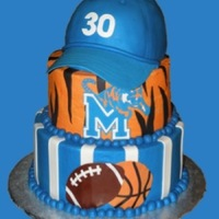 Go Tigers! I have always wanted to make this cake, and someone finally let me! Yay! Very happy with how it came out! Buttercream with mmf accents. Cap...