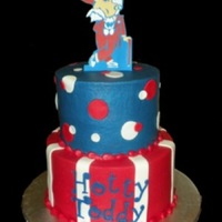 Hotty Toddy! Ole Miss Rebels graduation cake. Buttercream with MMF. Gumpaste Rebel cut with my cricut.