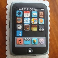 Apple Ipod Touch Fondant Cake Marble cake with raspberry filling. All fondant.