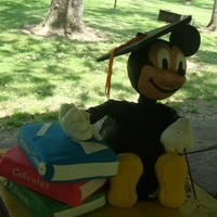 Mickey Mouse College Graduation Cake