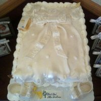 Mia's Christening Dress This cake was made for a Special Baby..Parents were told they would NEVER have children