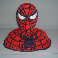Spiderman Head Cake 3D  This cake took a little time.. It was fun... Please let me know what you think..Also, you can see other work from me at my web sitemyspace...