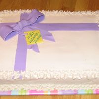 Present Cake I was pretty satisfied with this one....I haven't made many cakes that I've said that about. This was for Sept birthdays at work...