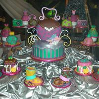 Debutante's Favorite Things   all cakes done in fondant; trimmings are of gumpaste, fondant, royal icing and chocolate