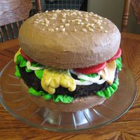"Hamburger This was made with mostly BC. The ""burger"" was iced and rolled in oreo cookie crumbs, the tomatoes were cookies dipped in warmed..."