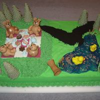 Teddy Bear's Picnic  This cake was made for a playgroups year-end party and it was such a fun cake to make. All figures are made of gumpaste, the water is...