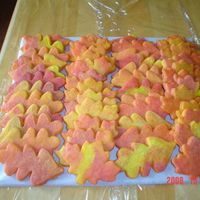 Autumn Leaves Sugar cookies (Martha Stewart recipe). Marbled the dough before baking. They were made for my daughter's cookie'n coffee booth at...