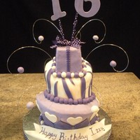 Sweet 16 This cake almost did me in!! lol But happy with the end results.