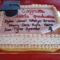 Preschool Graduation This was for a preschool graduation for my daughters class. The school colors are orange and black. The cake was white and chocolate...