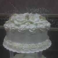 Top Tier Round Wedding Cake top tier of 3 tier wedding cake, all bc.....pic of complete cake has disappeared!!??
