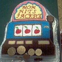 "Slot Machine Cake I made this slot machine cake for my step-mother for Mother's Day. This is my 3rd ""character cake"" if that's what you..."