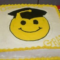 Smiley Grad Cake This was for my son's pre-school Graduation in 2005. This was my first attempt at a FBCT.