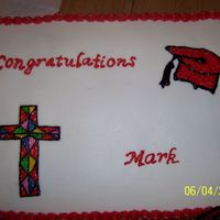 Confirmation/ Graduation Cake   This was a 'paying' order for a combination cake
