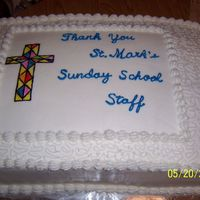 Church Cake This cake was done as a thank you to the Sunday School staff at my church