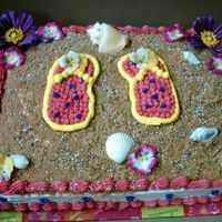Flip Flops Beach Theme Birthday Party 1/2 sheet Marble Beach theme Birthday Cake. I want to thank everyone who helped me with these ideas from this site, I really appreciate it...