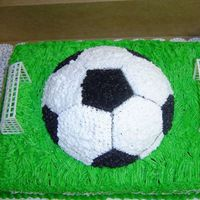 Soccer Cake 1st soccer cake I've done, was for a girl's birthday party.