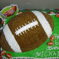 Football Birthday Cake   1st football cake i've done. All chocolate with buttercream.