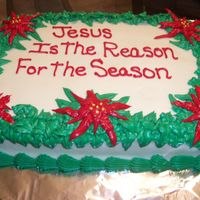 Christmas Cake 1/4 sheet chocolate cake with buttercream frosting.