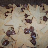 Beach Cookies star sugar cookies, chocolate vanilla swirl seashells on graham cracker crumb sand
