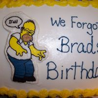 Homer Simpson   Vanilla cake, buttercream frosting, Homer is a FBCT