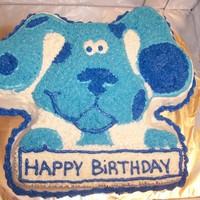Blues Clues   Buttercream icing, wilton blues clues cake pan