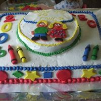 Preschool Graduation Made this for my daughters preschool. Learnt a lot doing this cake. Firts time useing fondant. But with the help of this web site and...