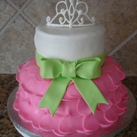 Tutu And Tiara Cake Fondant covered cakes with a royal icing tiara (I used a template that I found here). I am really happy with this cake, but all I can see...