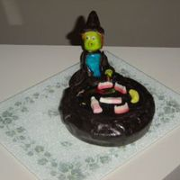 Witch Cake This is the 4th cake that I have made, and I think it turned out okay. I made it for my daughters grade 3 class. The witch was made out of...