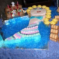 Mermaid Birthday With Treasure Chest I saw this done in Family Fun and thought it was a cute idea! This is a mermaid and a treasure chest cake for my daughter's 3rd...