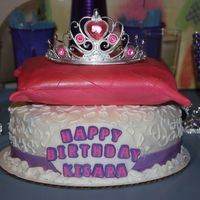Princess Pillow Cake   My daughter's 1st bday and my 1st pillow cake. It was fun to make. Everything is edible but the tiara (i got lazy).